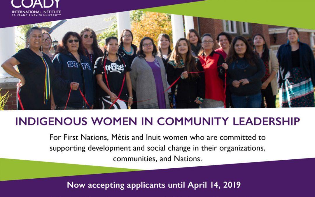 Deadline Extended: Indigenous Women in Community Leadership