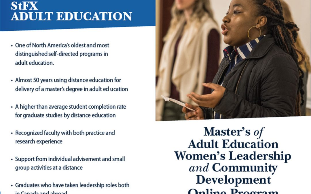 StFX University Offers New Online Master's Program for Women Leaders in Community Development