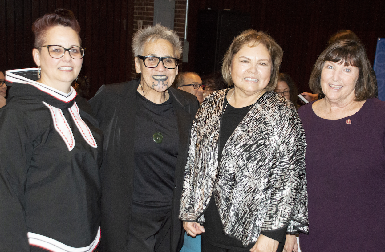 Pictured L to R: Senator Margaret Dawn Anderson, Dr. Ngahuia Te Awekotuku, Dr. Marie Delorme, Senator Mary Coyle