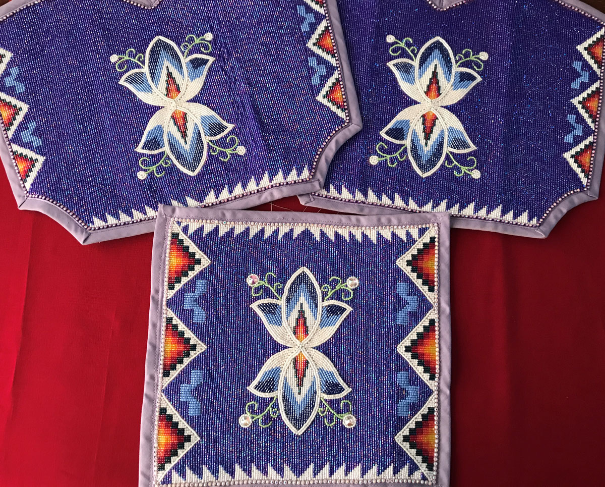 Cree Floral Beadwork