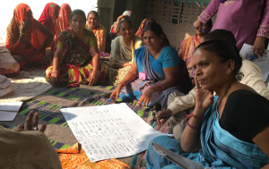 Women from India gather for a workshop