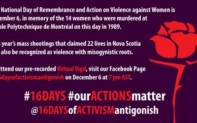 National Day of Remembrance and Action on Violence against Women Virtual Vigil