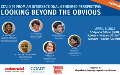 Webinar: Covid 19 from an Intersectional Gendered Perspective – Looking Beyond the Obvious