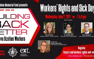 Webinar: Workers' Rights and Sick Days in Nova Scotia