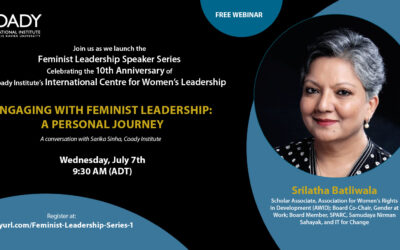 Event: Engaging with Feminist Leadership – A Personal Journey