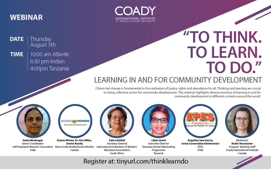 Event: To Think, To Learn, To Do – Learning in and for Community Development